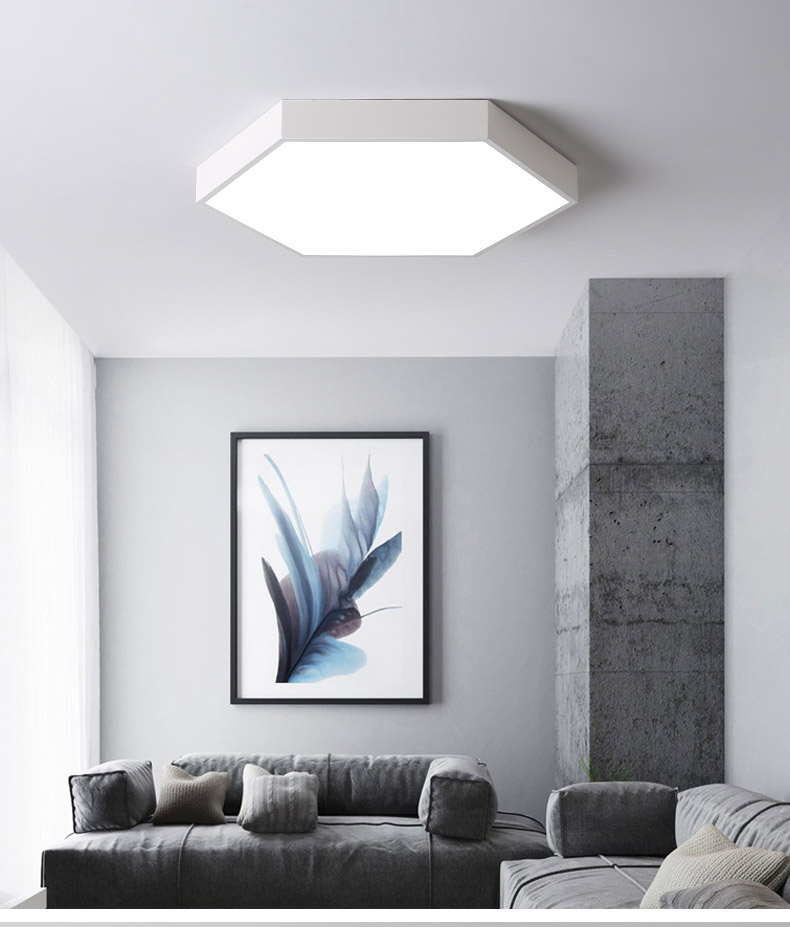 DX Ultra-Thin Hexagon Ceiling Lights (6)