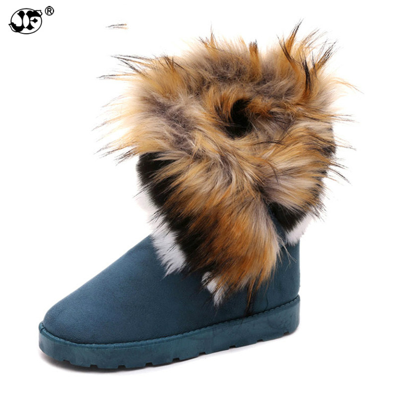 Suede Women Snow Boots Sewing Slip-On Mid Calf Winter Boots Female Faux Fur Warm Flat Shoes Tassels Edging Footwear 866 недорго, оригинальная цена