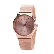 Женские Классические кварцевые часы, розовое золото, нержавеющая сталь, AP12 # N