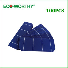 ECO-WORTHY High Effeciency 100pcs 6×2 156*58.5mm Solar Photovoltaic Cells for DIY 180w Solar Panel Solar Home Appliction