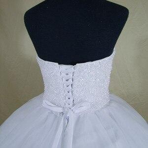 Image 5 - 2020 Bling Bling Shining Kristallen Baljurk Trouwjurk Custom Made Bruidsjurk Robe De Mariage Vestido De Noiva