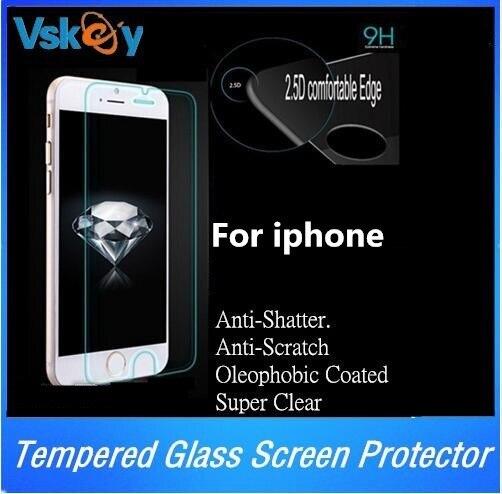 imágenes para 100 unids 2.5D Vidrio Templado Para el iphone 7 Plus 6 6 s Plus 5S Protector de Pantalla A Prueba de Explosiones Película Protectora