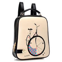 Новая коллекция женской моды печатных рюкзак школьный портфель, женщины кожа рюкзак женщины милые рюкзаки, школьные сумки для подростков