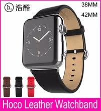 2015 Nouveau HOCO Véritable En Cuir Bande Pour Apple Watch 42 MM 38 MM Fait Par Première Couche Bovins En Cuir Avec D'origine Classique boucle