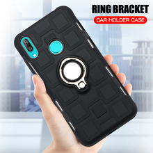 Cover For Huawei Y7 Prime 2019 Silicone Shockproof Phone Case 2018 Luxury Armor Back Ring Stand