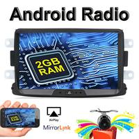 32G ROM Android 9.0 1 din Android Car Radio For Duster/Sandero/ Logan/Lada/Xray/Dacia/ Captur with Camera GPS AUX BT