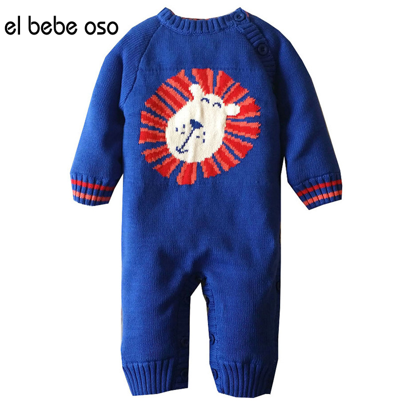 el bebe oso New Fashion Baby Unisex Clothes Long Sleeve Animal Baby Rompers Newborn Cotton O-Neck Jumpsuit Infant Clothing XL504 cotton baby rompers infant toddler jumpsuit lace collar short sleeve baby girl clothing newborn bebe overall clothes