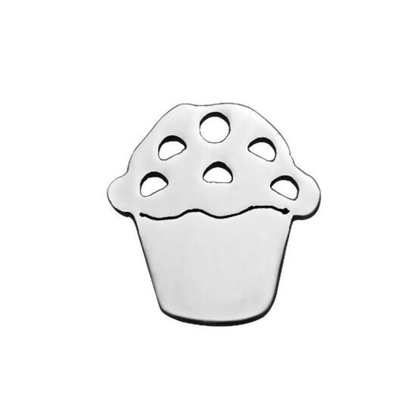 2018 12mm icecream best buds gift friendship necklace pendant milk cookie fashion stainless steel jewelry