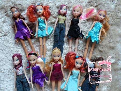 Free Shipping 2019 Winx Dolls For Girls Gift Height 28cm Doll Accessories