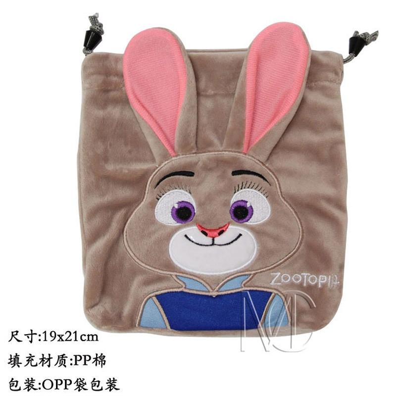 Anime/Cartoon Zootopia/Zootropolis Rabbit Judy Hopps Jewelry/Cell Phone Drawstring Pouch/Wedding Party Gift Bag (DRAPH_12) elsadou loz diamond blocks zootopia diy building toys fox nick wilde and rabbit judy hopps 9029 9030