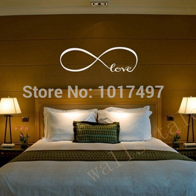 Free Shipping Wall Stickers Bedroom Decor , Personalized Infinity Symbol  Bedroom Wallpaper Decals Love Quotes Painting