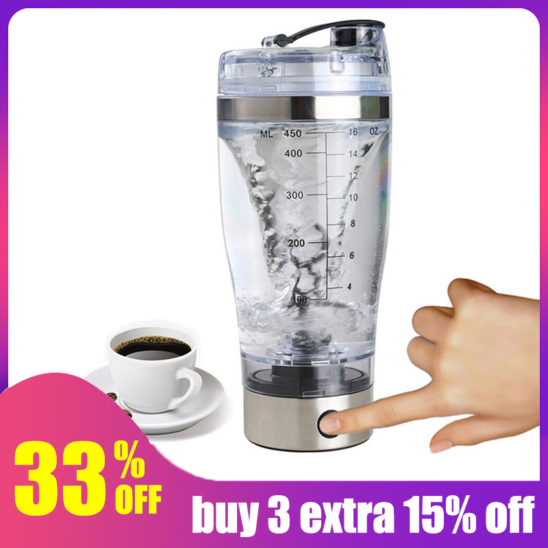 Hoomall 600ML Electric Automatic Protein Shaker Portable Movement Mixing Water Bottle Vortex Tornado PP Free Kitchen Accessories