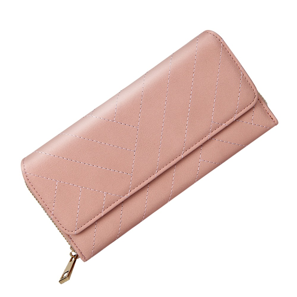 Elegant Women Wallets Leather Wallet Ladies Hasp&Zipper Large Capacity Credit ID Card Holders Luxury Brand Clutch Bag Clutches