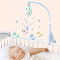 Baby Bed Bell Musical Toys For 0 2 Years Newborn Kids Gift Cartoon Owl Horse Design Mobile Crib Mobile Baby Rattle Bed Ring Pink