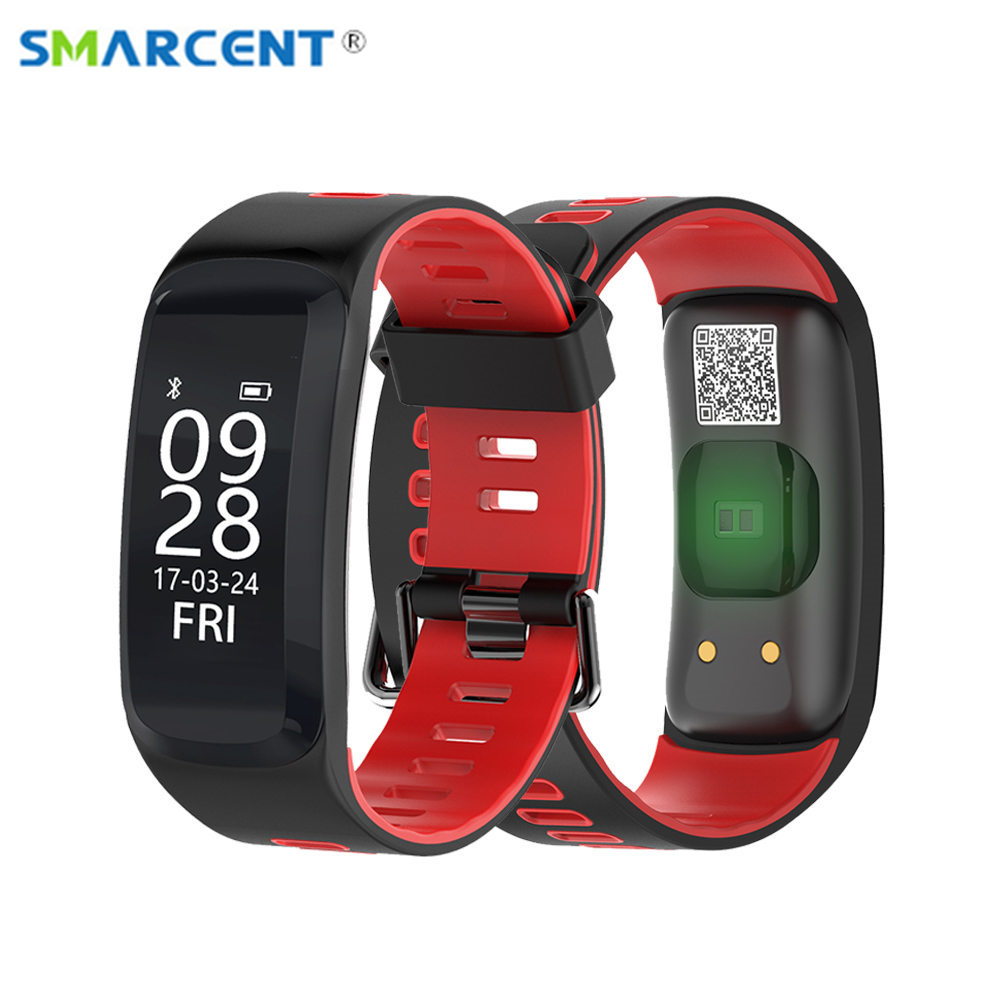 SMARCENT F4 Smart Fitness Bracelet IP68 waterproof Blood Pressure Oxygen Heart Rate Monitor Smartband Wristband For IOS/Android smart band a06 blood oxygen smartband heart rate monitor wristband fitness bracelet for android ios phone pk mi band 2
