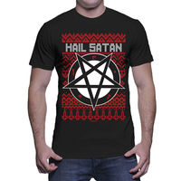 Hail Satan Pentagram Sin Evil Devil Ugly Christmas Gift Mens T Shirt Fashion Style Men Tee,100% Cotton Classic tee