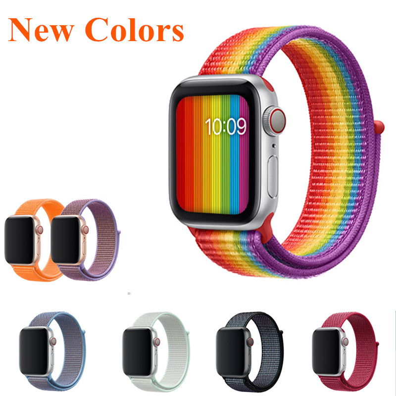 Correa For Apple Watch Series 4 Nylon Weave Band 44mm 40mm Breathable Replace Strap 38mm 42mm Watch Bands for iWatch 1 2 3 4 цвета apple watch 4