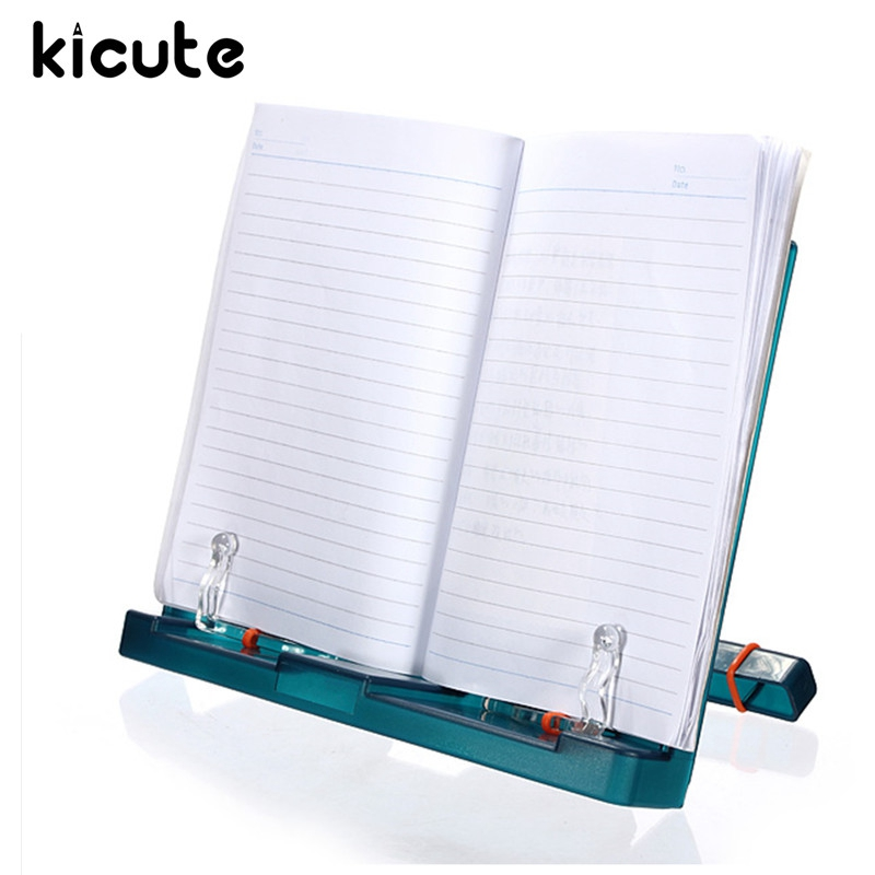 Kicute Newest Adjustable Document Plastic Book Stand Holder Reading Frame Desk Holder Tilt Bookstand Office School Supply розетка legrand valena 2к 3 со крышкой слоновая кость 774322