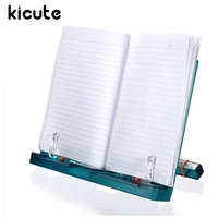 Kicute Newest Adjustable Document Plastic Book Stand Holder Reading Frame Desk Holder Tilt Bookstand Office School