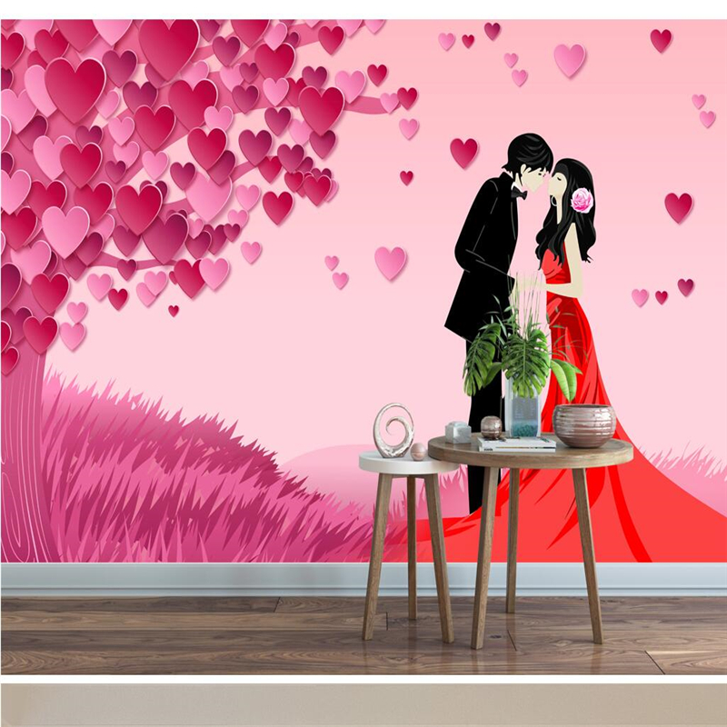 Beibehang Wallpaper Custom Mural Wallpaper Romantic Love Tree Fashion Romantic Couple 3d Living Room Bedroom Backdrop Wallpapers Aliexpress