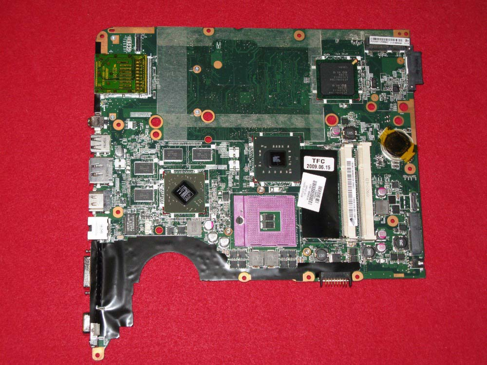 цены  516294-001 Free Shipping main board for Hp pavilion dv7 laptop motherboard intel PM45 DDR2 with ati graphics 100% tested