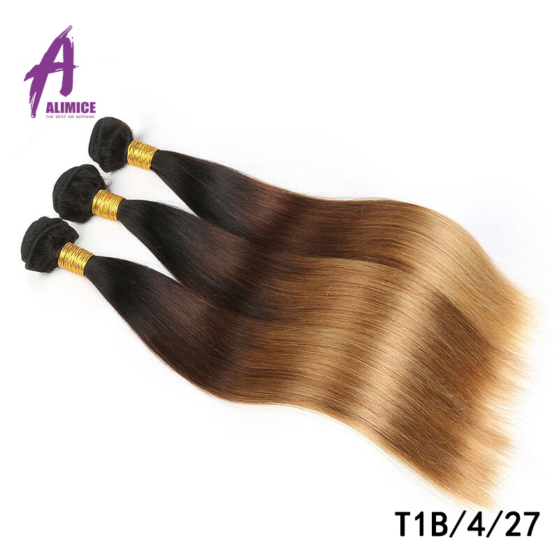 Alimice Brazilian Straight Hair Weave Bundles 1 Piece Only Can Buy 3 Or 4 Bundles Non-remy Natural Color Human Hair Bundles Hair (3)