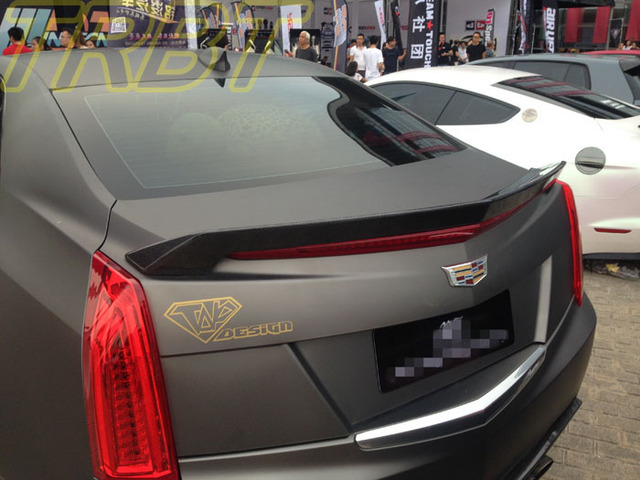 ATS Rear Spoiler Carbon Fiber Rear Trunk Wing Racing