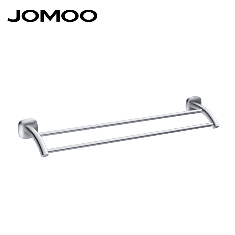 JOMOO Aluminum Material Single High Quality Towel Bar Set Rack Tower Holder Hanger Bathroom Wall Mounted quality design 939809 space aluminum towel rack single towel bar europe style bathroom single towel rack bathroom towel holder