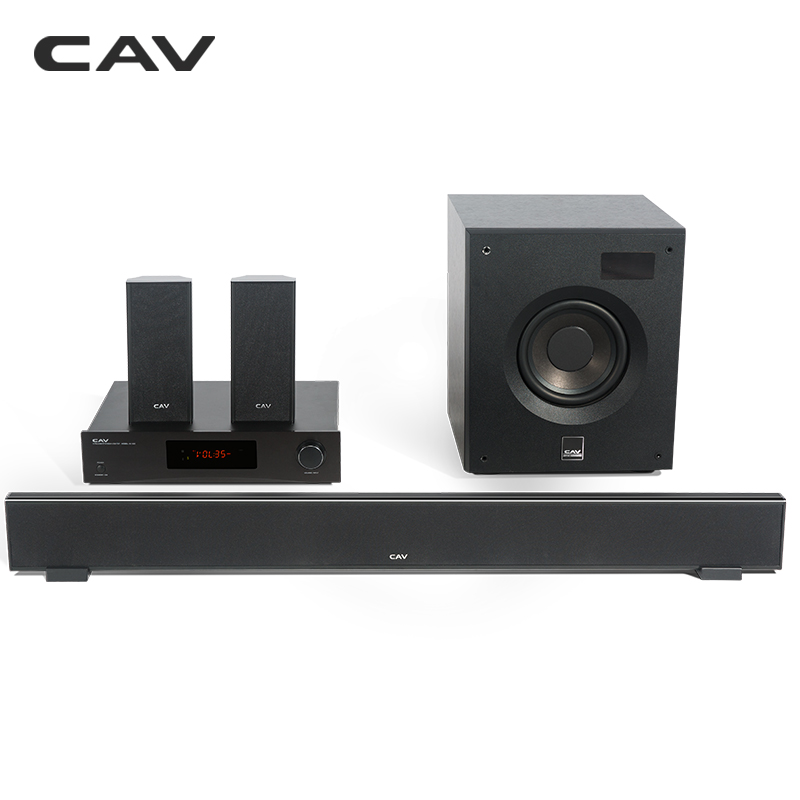 CAV W8 Home Cinéma 5.1 DTS Bluetooth 4.2 EDR 3 Modes Sonores Music Center Barre De Son Caisson Surround Combinaison Home Cinéma