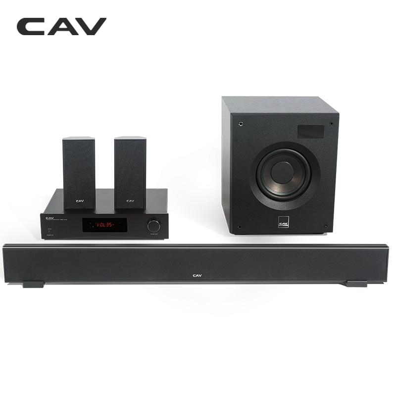 CAV W8 Home Cinéma 5.1 DTS Bluetooth 4.2 EDR 3 Modes Sonores Music Center Barre De Son Caisson Surround Combinaison Home Cinéma
