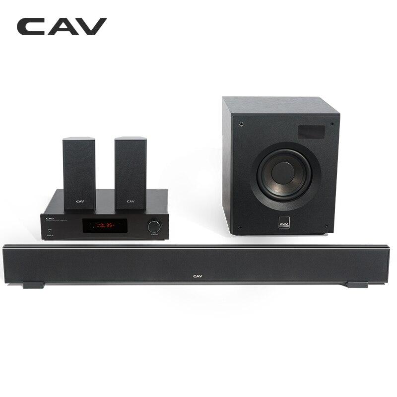 CAV W8 Home Theater 5.1 Centro de Música Do Bluetooth 4.2 EDR 3 Modos De Som DTS Soundbar Subwoofer Combinação Surround Home Theater