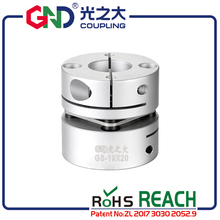 Flexible shaft coupling cardan GND aluminum D26 L26 single 5 8mm diaphragm clamp  for CNC hollow shaft encoder stepmotor connect