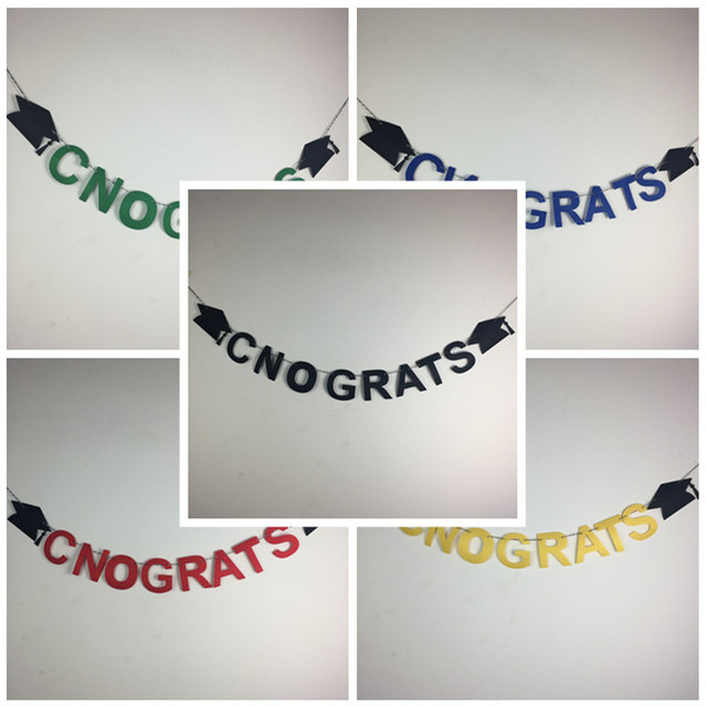 freeshipping party decoration cnograts university college graduation