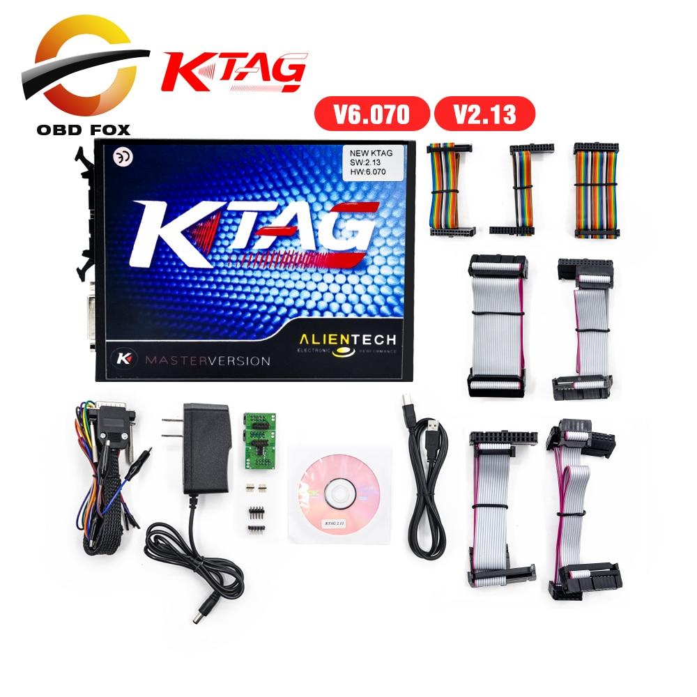 Prix pour 2017 Top vente KTAG ECU Outil de Programmation V2.13 Maître Version K TAG tuning V6.070 kess Illimité jetons livraison gratuite