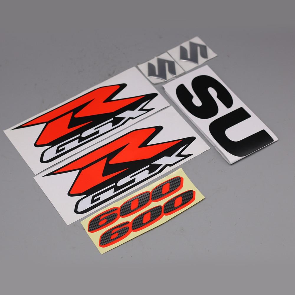 Motorcycle Carbon Look 3D GSX-R GSXR 600 Emblem Badge Sticker 3D Tank Wheel Logo S Decal For Suzuki GSXR600 Label