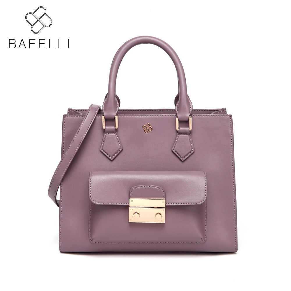 BAFELLI women solid flap shoulder handbag split leather crossbody blosa feminina business messenger bag women handbag