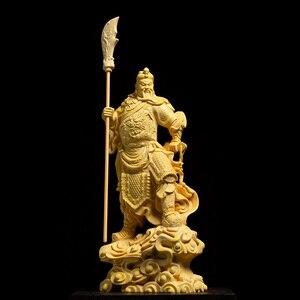 Image 4 - 16 ซม.ประตูพระเจ้าGuan Gong Figurine Guan Yuรูปปั้นรูปปั้นไม้บ้านDecors Roomไม้ประวัติศาสตร์จีนตัวเลขของขวัญLucky Fortu