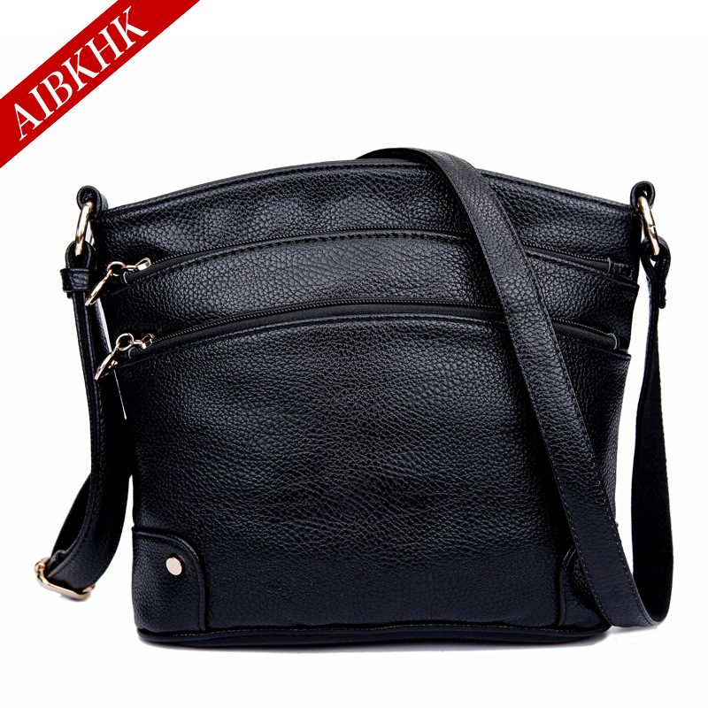 AIBKHK Brand Genuine Leather Shoulder Bags Casual Female Messenger Bags for Women 2017 Handbags Ladies Soft Crossbody Small Bag aibkhk cowhide genuine leather women speedy bags crossbody bag female fashion shoulder for women s handbags clutch leopard bag