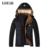 GUEQI ADICIONAR Homens De Lã Inverno Parka Plus Size L-3XL Homem Negro Com Capuz Quente Casacos De Lã Patchwork Outerwear 2017
