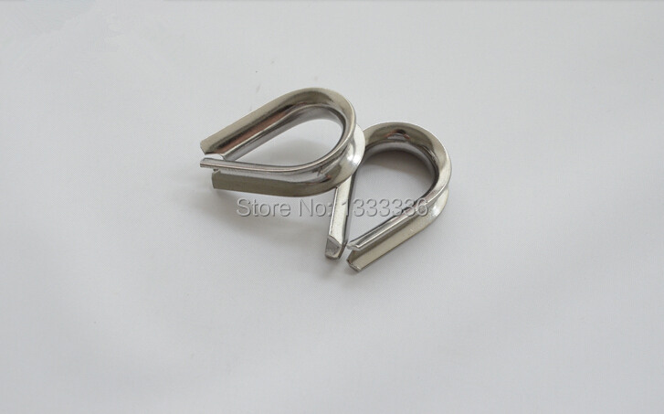 50pcs M5 Stainless Steel Wire Rope Clamp Thimble Triangle Ring ...