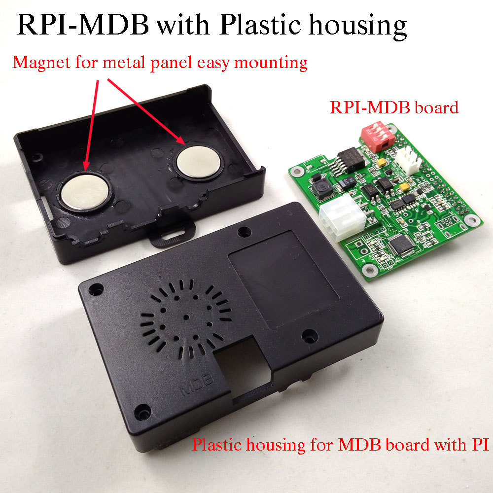 Raspberry pi to vending machine MDB cashless interface adapter board with housing working with bill acceptor,coin validator free shipping 20pcs lot mdb bill acceptor interface to computer