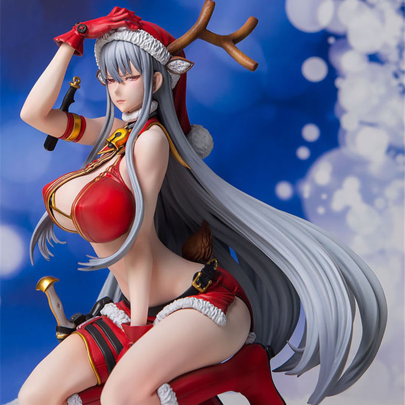 Anime Valkyria Chronicles Selvaria Bles Christmas style Sexy Girl Model PVC Action Figure collection model toys Christmas gift