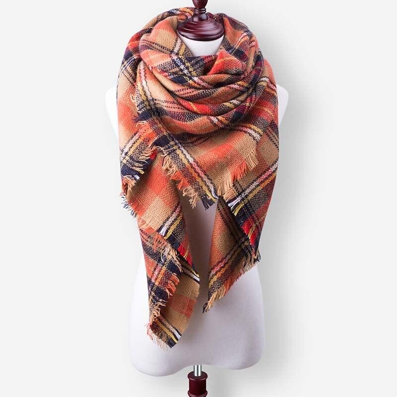Бренд Evrfelan, шарфы, Прямая поставка, женский зимний шарф, высокое качество, плед, одеяло, шарф и шаль, большой размер, плотные шарфы, шали - Цвет: W28