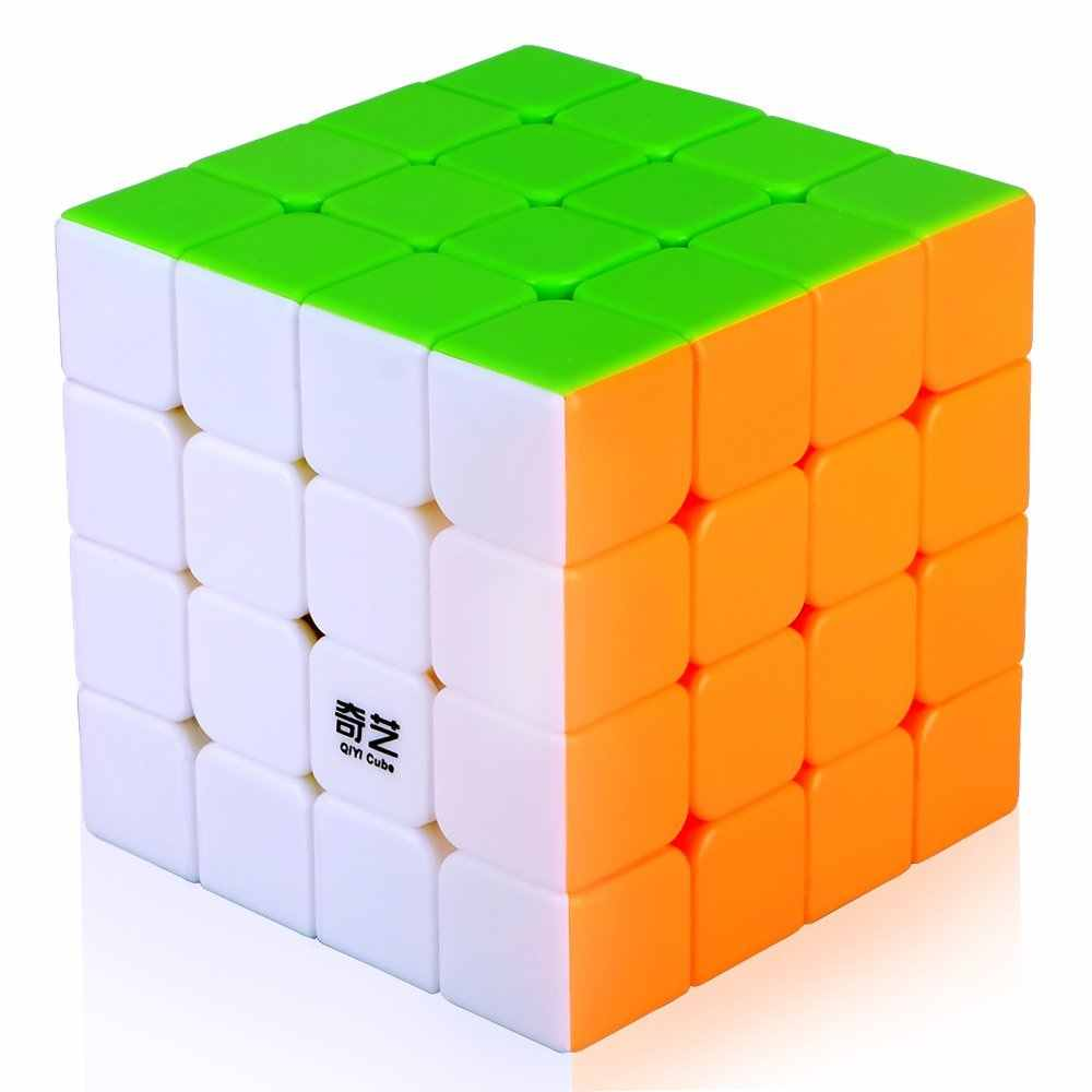 Droxma Novo Qi QiYi Yuan S 4x4 Magic Cube Enigma Velocidade Cube Toys Magic Cube Stickerless 4x4x4 Puzzle