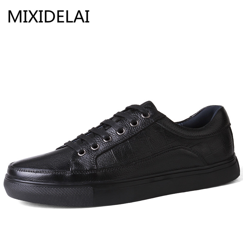 Brand Genuine Leather men casual shoes Luxury Flat Fashion Designer Breathable Mens Shoes Casual Male Footwear SDQ008 new fashion men luxury brand casual shoes men non slip breathable genuine leather casual shoes ankle boots zapatos hombre 3s88