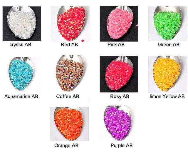 10000pcs wholesale 14 sections 3mm flatback resin AB rhinestones DIY Findings jewelry supplies[JCZL DIY Shop]