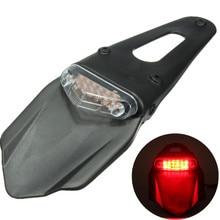 Universal de La Motocicleta Guardabarros Parada Descomponer la Luz 12 LED de La Lámpara Trasera Luz trasera Volver Lámpara Toque Rojo