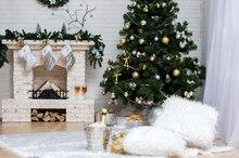 Книги по искусству Ткань фотографии фонов Аксессуары для фотостудий фотографического Задний план для детей в помещении Рождество дерево фон XT-3536