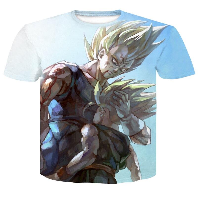 3D Tshirt Men Clothes 2018 Dark Goku 3D Print Short Sleeve Tee Shirts Top Print Super Saiyajin Son Goku  Dragon Ball Z Mens