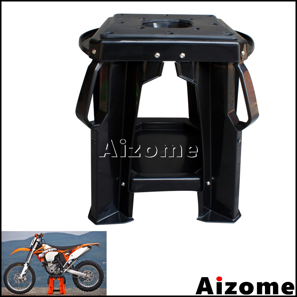 Motorcycle Dirt Bike Repair Stand Motocross Maintenance Lift Stool Seat For Honda Yamaha Kawasaki KTM Suzuki Orange